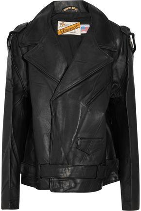 VETEMENTS + Schott Perfecto oversized leather biker jacket