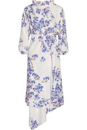 VETEMENTS Asymmetric floral-print stretch-crepe wrap dress