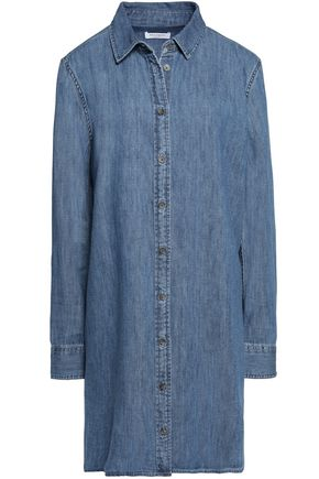 EQUIPMENT Pleated denim mini dress