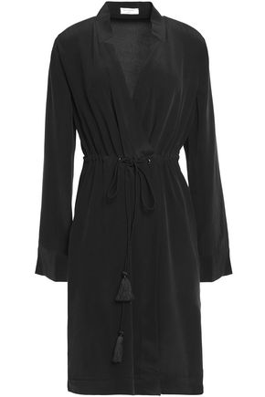 EQUIPMENT Tasseled silk crepe de chine dress