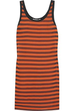 GIVENCHY Striped stretch-silk mini dress