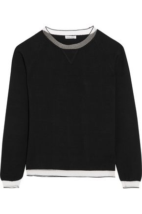 TOMAS MAIER Mesh-trimmed stretch-knit top