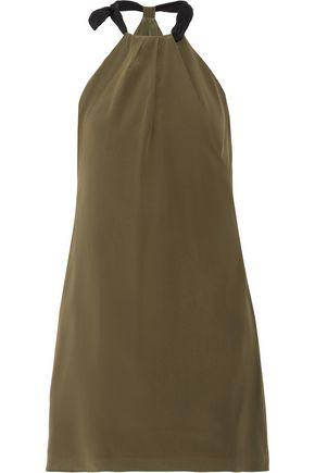 ZEUS + DIONE Aria silk crepe de chine halterneck mini dress