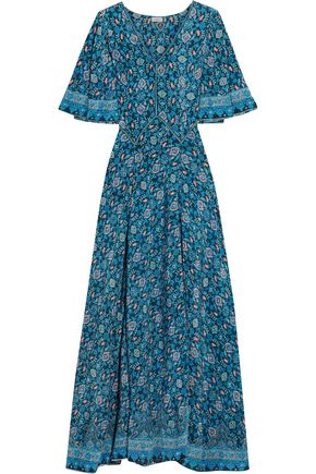 TALITHA Printed silk crepe de chine maxi dress