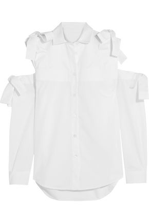 PAUL & JOE Cold-shoulder cotton shirt