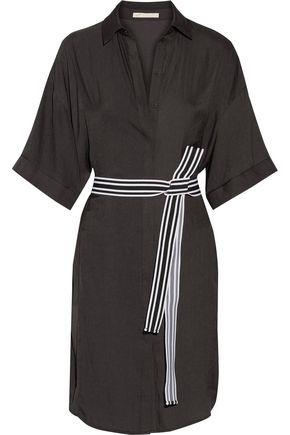 MAJE Belted twill shirt dress