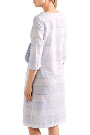 PAUL & JOE Bow-detailed striped cotton dress