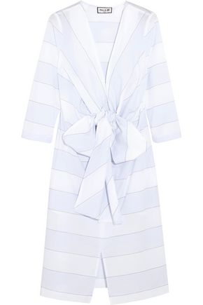 PAUL & JOE Bow-detailed striped cotton dress