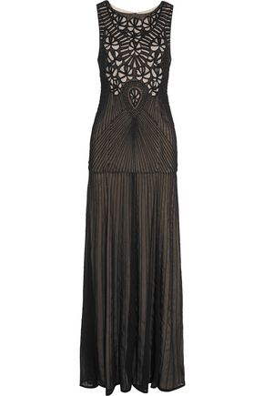 ALICE + OLIVIA Hilda beaded georgette gown