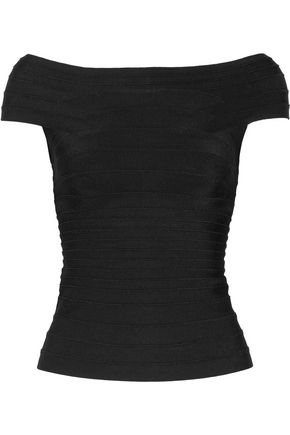 HERVÉ LÉGER BY MAX AZRIA Off-the-shoulder bandage top
