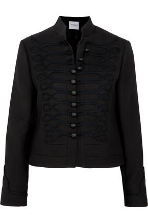 VILSHENKO Embroidered wool-felt jacket