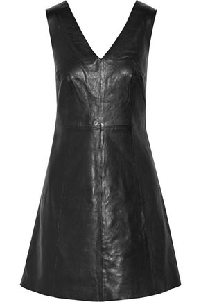 MUUBAA Handley leather mini dress