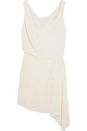 ATLEIN Draped ribbed-knit mini dress