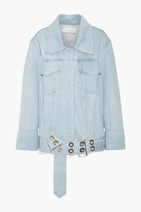 MARQUES ALMEIDA Oversized frayed denim jacket
