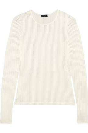 ATLEIN Ribbed jersey top