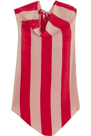 JUAN CARLOS OBANDO Striped silk crepe de chine top