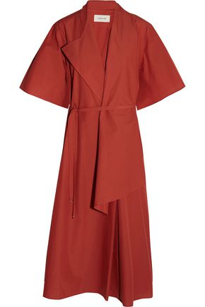 LEMAIRE Cotton-poplin wrap dress