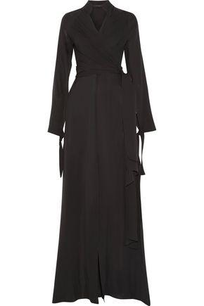 JUAN CARLOS OBANDO Wrap-effect silk-chiffon gown