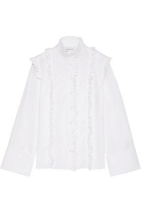MARQUES ' ALMEIDA Ruffled cotton-poplin shirt