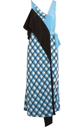DIANE VON FURSTENBERG Draped printed silk-blend wrap dress