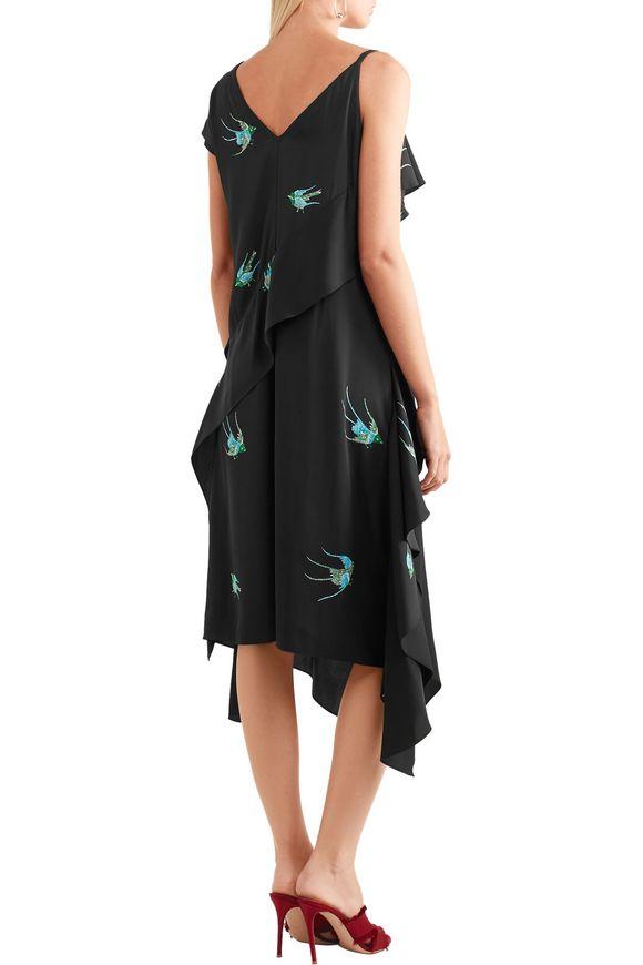 Draped printed silk-blend midi dress | DIANE VON FURSTENBERG | Sale up to 70%  off | THE OUTNET