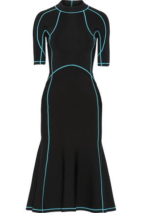 ALEXANDER WANG Lace-up stretch-knit midi dress