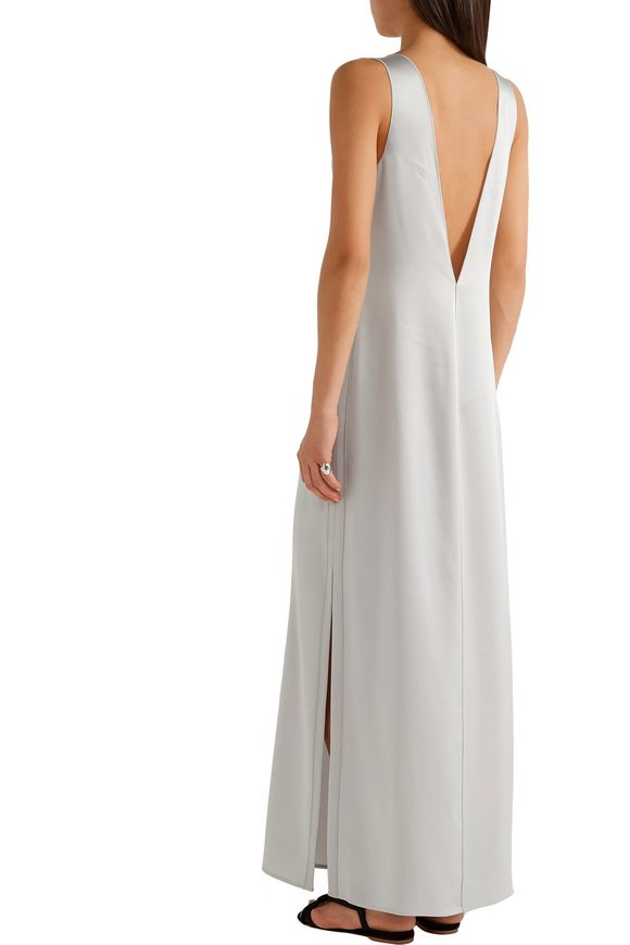 Pearl crepe-trimmed satin maxi dress | ELIZABETH AND JAMES | Sale up to 70%  off | THE OUTNET
