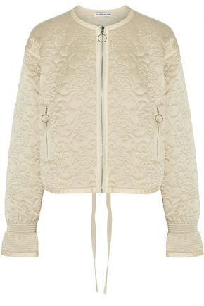 ELIZABETH AND JAMES Daisy quilted silk-satin jacket