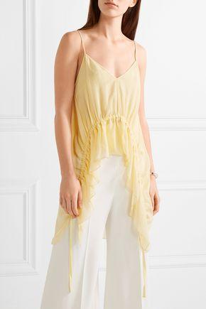 ELIZABETH AND JAMES Eleanor ruffled silk-crepon camisole