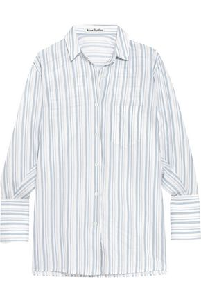 ACNE STUDIOS Bai oversized striped cotton shirt