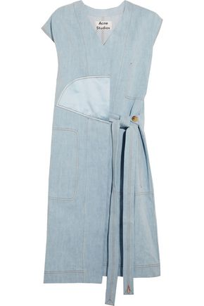 ACNE STUDIOS Orrin satin-paneled denim vest