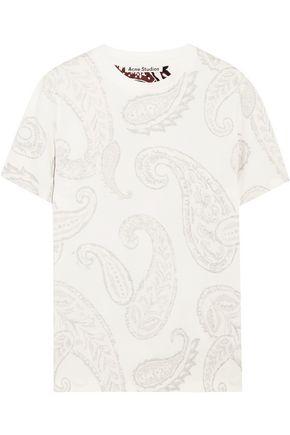 ACNE STUDIOS Taline paisley-print cotton-jersey T-shirt