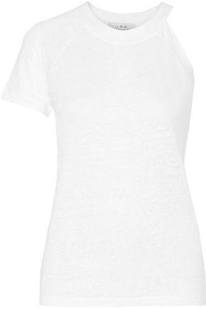 IRO Jain asymmetric slub linen jersey T-shirt