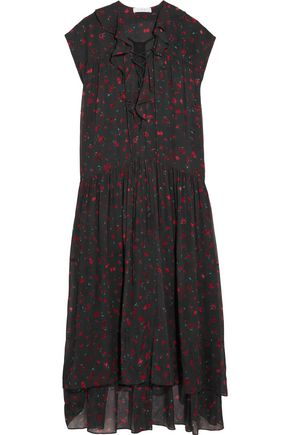 IRO Janie printed georgette dress