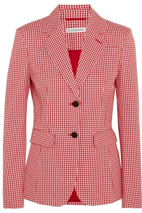 ALTUZARRA Fenice gingham cotton-blend twill blazer