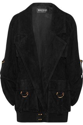 BALMAIN Oversized suede jacket