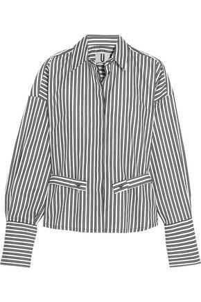 TOPSHOP UNIQUE Tiller oversized striped cotton shirt
