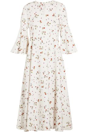CARVEN Floral-print crepe midi dress