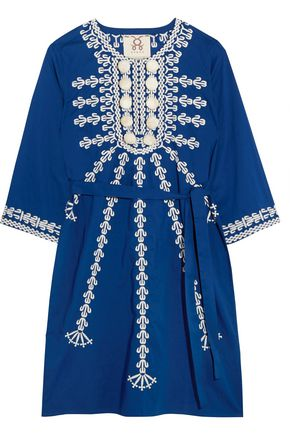 FIGUE Sophie embellished cotton mini dress