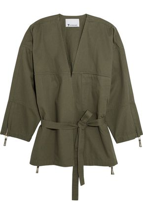 T by ALEXANDER WANG Belted cotton-twill jacket
