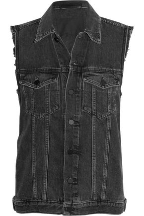 ALEXANDER WANG Daze distressed denim vest
