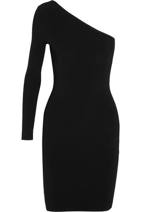 ELIZABETH AND JAMES Brittany one-shoulder ribbed-knit dress