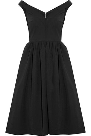 PREEN by THORNTON BREGAZZI Ted off-the-shoulder stretch-crepe dress