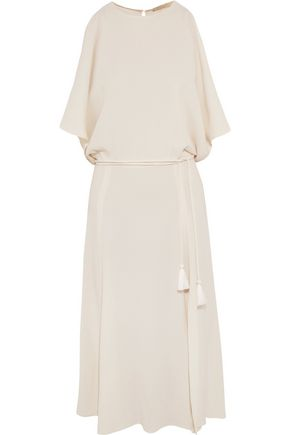 VANESSA BRUNO Galla cold-shoulder open-back crepe midi dress