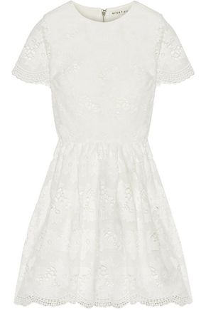 ALICE + OLIVIA Karen lace mini dress
