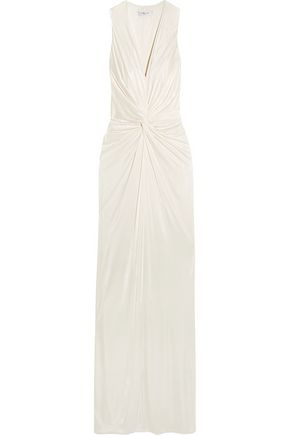 LANVIN Twist-front jersey gown