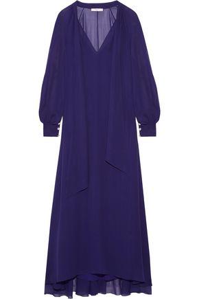 LANVIN Pussy-bow silk-chiffon maxi dress