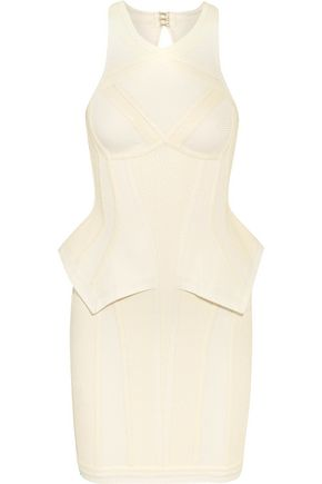 HERVÉ LÉGER Textured knitted bandage mini dress