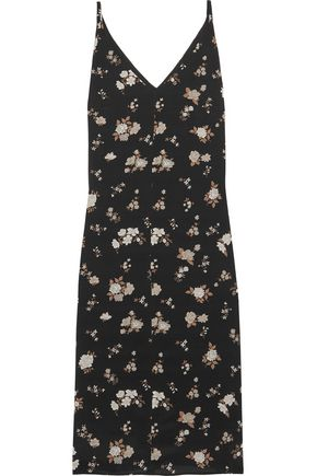 GOLDEN GOOSE DELUXE BRAND Floral-print silk-crepe midi dress