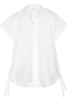 HELMUT LANG Shirred cotton-poplin shirt